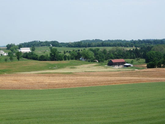 The Roulette and Mumma farms at Antietam National Battlefield