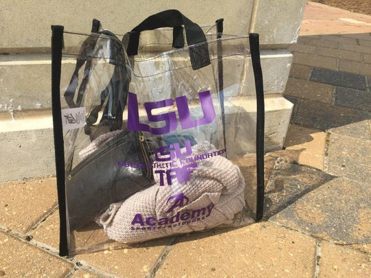 Fans heading into the Superdome in New Orleans must have a clear bag.