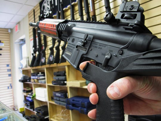 """A """"bump stock"""" modifies the stock of the gun so the recoil helps fire rounds in rapid succession."""