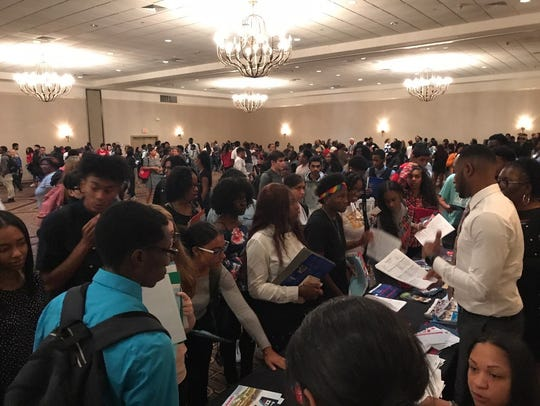 More than 600 students from 22 local high school attend