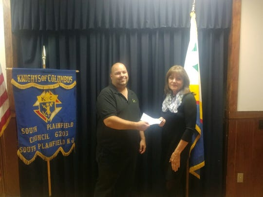 From left: South Plainfield Knights of Columbus Council 6203 Grand Knight Joe McGeehan and Lynne Conway.
