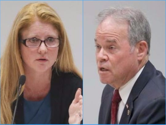 Maureen Porette and Ed Day, Rockland County executive candidates