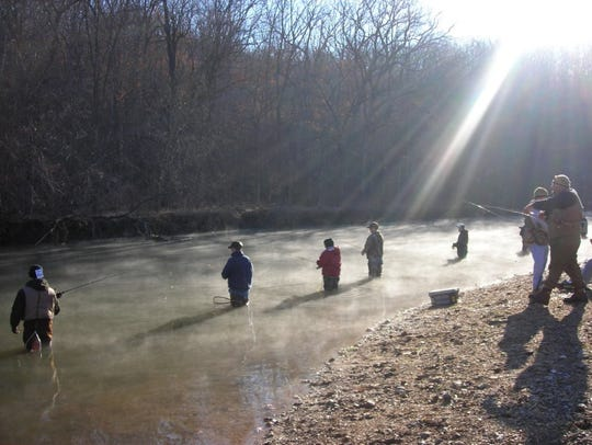 Catch and keep trout anglers at Missouri's trout parks