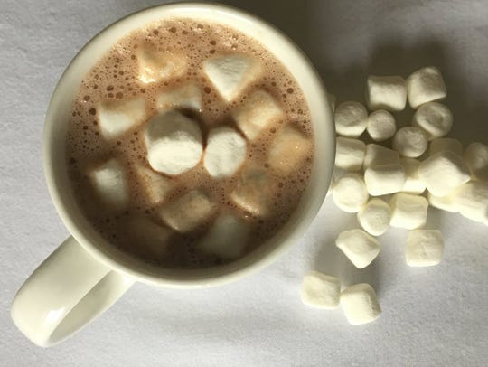 Hot chocolate with marshmallows.