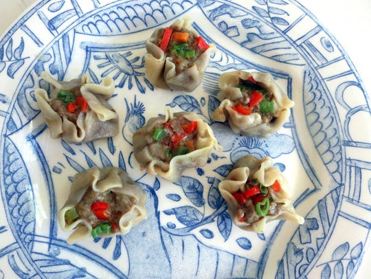 Curried Beef Dumplings are made with round dumpling