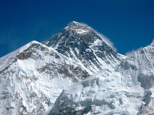 Mount Everest, in Nepal, is the highest mountain in the world at 29,029 feet.