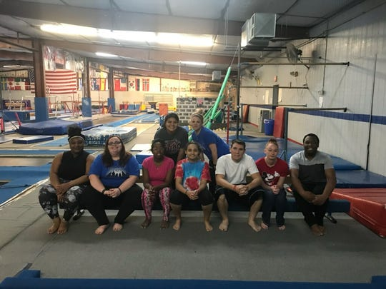 The Adaptive Recreation Wolf Pack Cheer Team visits Abilene Heat Gymnastic for training. Their next pep rally will be Feb. 23.