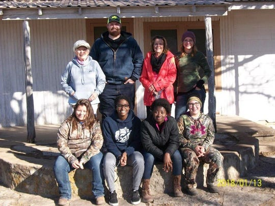 The Colorado River Municipal Water District conducted a deer hunt on Jan. 13 for members of a Texas children's home. Top row, from left: hunting guides Carrol Sessom, Joel, Debra Halfmann and Monica Minzenmeyer. Bottom: Haley, Hanna, Taheen and Mary.