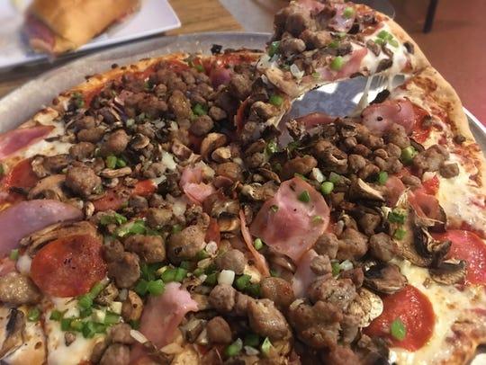Garibaldi's pizza.