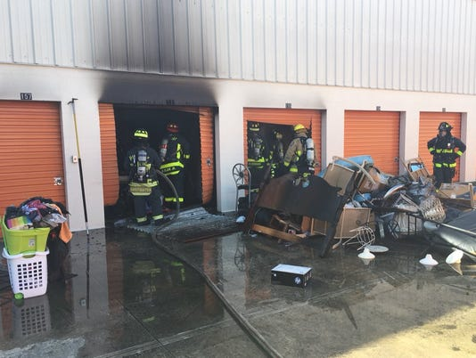 No injuries, minimal damage after Babcock storage unit fire