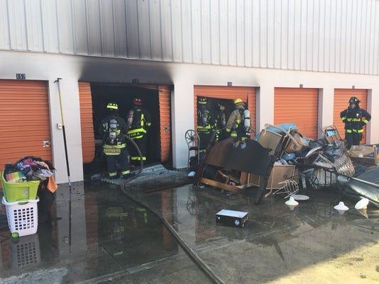 No injuries, minimal damage after Babcock storage unit fire