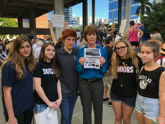 Gwen Graham meets with survivors of the Parkland shooting.