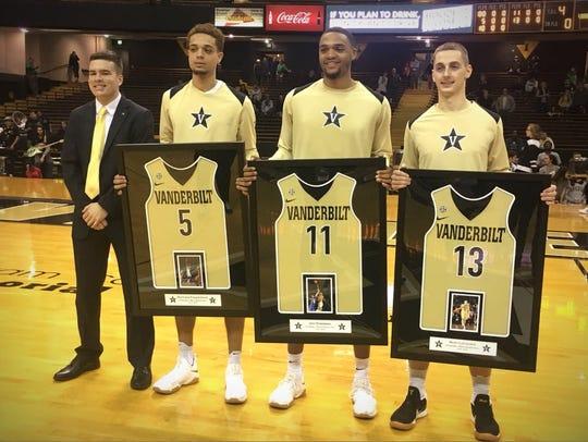 Vanderbilt seniors Matthew Fisher-Davis, Jeff Roberson