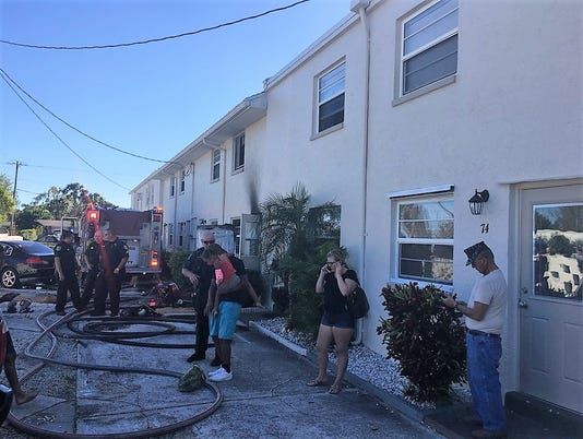 Apt fire at 55 Needle Blvd in Merritt Island