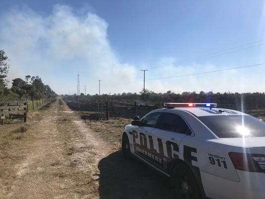 Fire south of Fellsmere