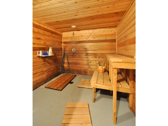 The home features a 17-by-8-foot sauna.