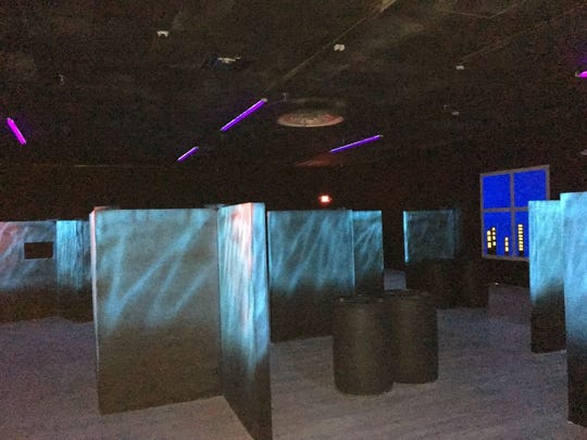 Laser tag room at Hub City Adventure.
