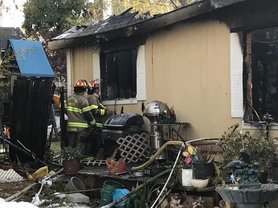 Firefighters haven't been able to inspect the entire residence to ensure no one was inside the Shasta Lake residence that started burning around 6 a.m.