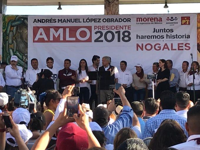 El candidato izquierdista Andrés Manuel López Obrador