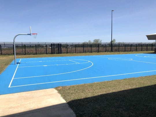 A basketball court will provide outdoor recreation for juveniles in the Acadiana Center for Youth.