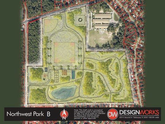 A possible design for a new city park in the northwest