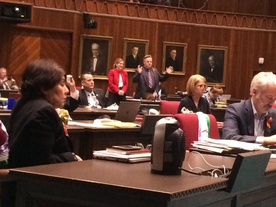 Rep. Anthony Kern responds to the speaker's speech