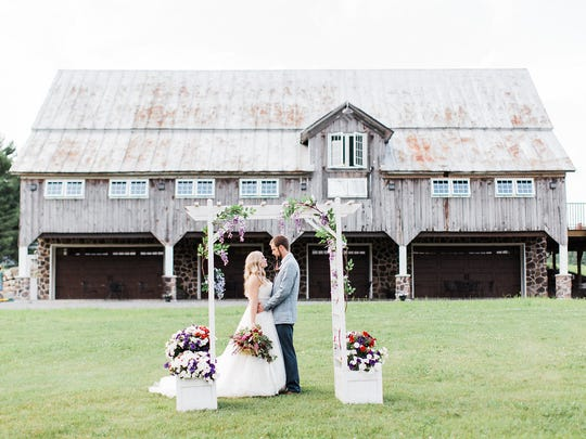 Trillium Creek Wedding Barn, styled by Et Voila Events.