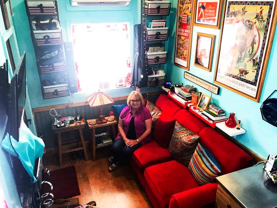 In a May 7, 2018 photo, Amy Killeen lounges in her