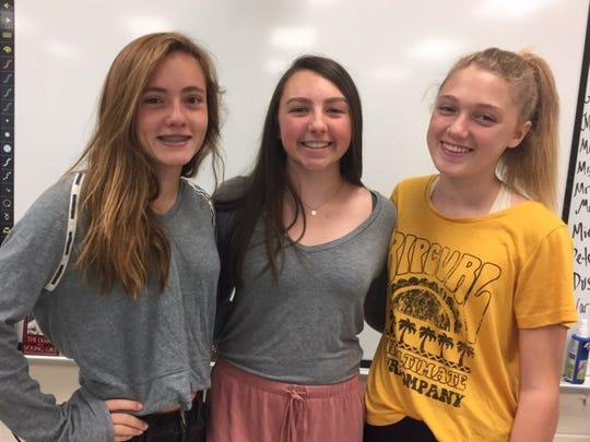 Emily Gencarelli, Taryn Sabia, Brooke Glynn, Grade