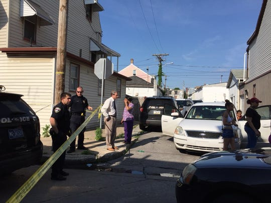 York City Police investigate a shooting death in the