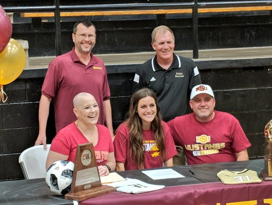 Emma Baley signed to play soccer at Midwestern State.