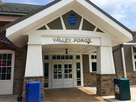 The Valley Forge service plaza has two food and drink