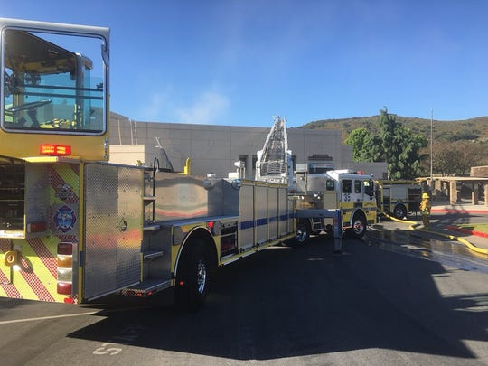 Ventura County fire crews put out a small fire Monday
