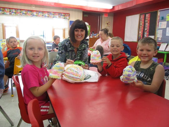 Students in the St. John Lutheran 4K class show off