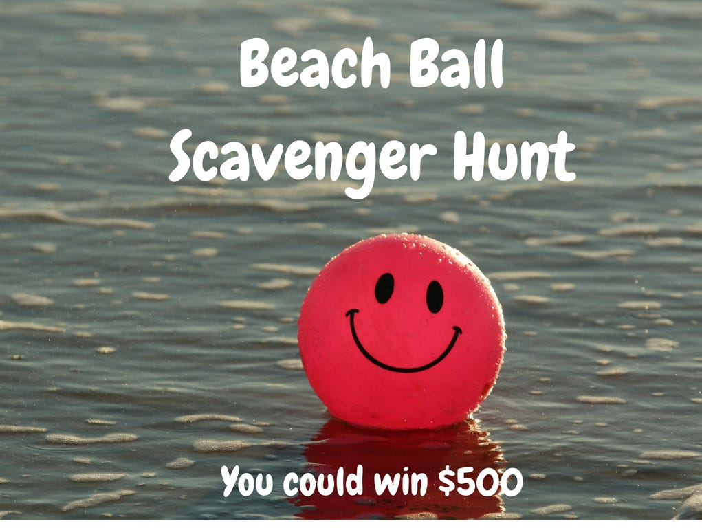 Join us as we celebrate Christmas in July with a beach ball scavenger hunt.