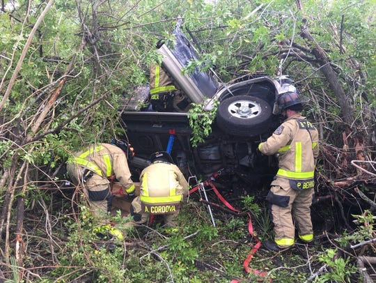 Three occupants had to be extricated by BCFR crew when