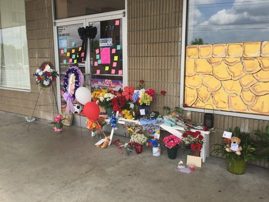 A memorial has sprouted outside the Mexican restaurant