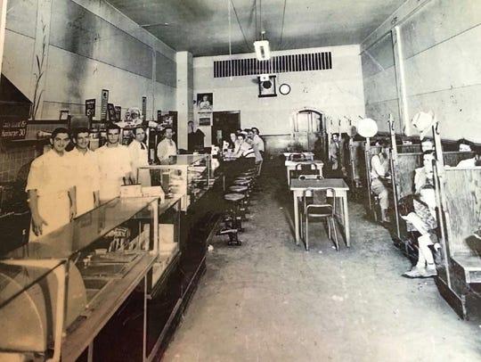 Interior view of Jumes restaurant. No date given. (Sheboygan