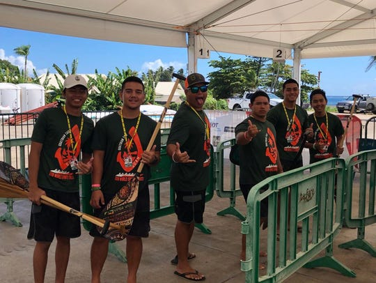 Members of the Guadtian Tasi V6 1500 meter Open Men's