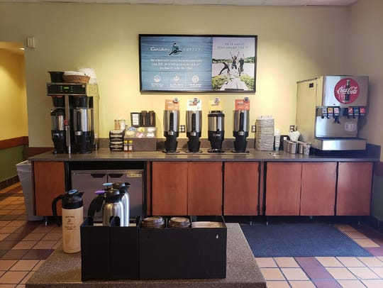 Caribou Coffee is  available in Knoxville at Einstein