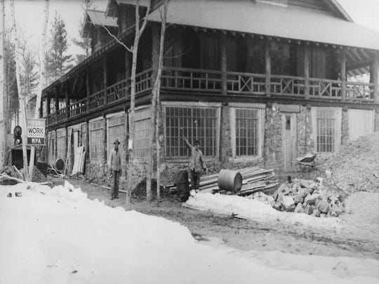 Historic photo of the Keweenaw Mountain Lodge.