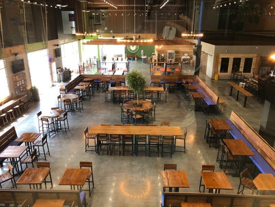 The beer hall at Fat Head's new production facility
