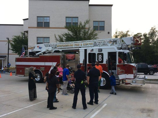"Apartment complexes that wish to be certified in the Murfreesboro Crime Free Multi-housing Program must host a ""safety social"" event to create a community watch. Residents interacted with first repsonders stationed near the complex."