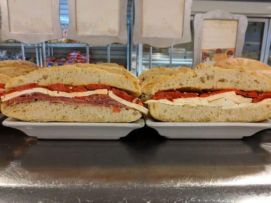Savory sandwiches featuring prosciutto, mozzarella,
