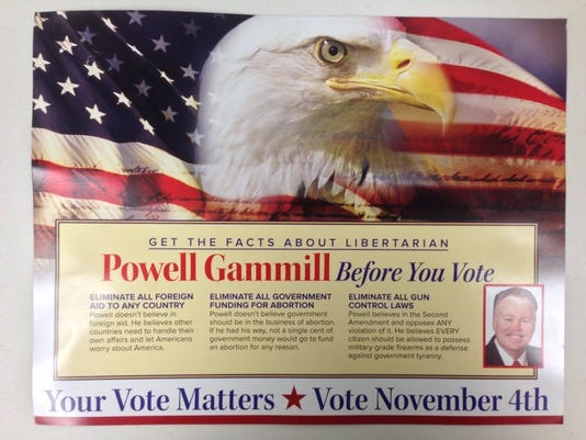 Politics mailer Gammill Demorats