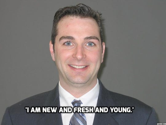 'I am new and fresh and young,' said Frank Sparaco.