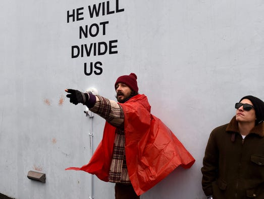 On Inauguration Day, Shia LaBeouf launched his latest