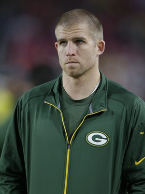 Green Bay Packers receiver Jordy Nelson looks on from the sidelines in the fourth quarter against the Arizona Cardinals at University of Phoenix Stadium.
