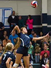 CVC's Lindsey Calvin is the 2014 Times-Delta/Advance-Register Tulare County volleyball player of the year.