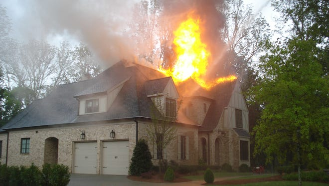 No one was injured when lightning struck the roof of Rand Frederiksen's home in Franklin in late July 2010, but the house was a total loss.